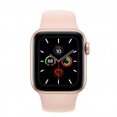 Apple Watch Series 5 GPS + Cellular 40mm Gold Aluminum Case with Pink Sand Sport Band (MWWP2)