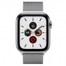 Apple Watch Series 5 GPS + Cellular 40mm Stainless Steel Case with Milanese Loop (MWWT2)