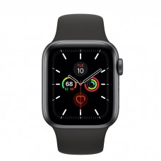 Apple Watch Series 5 GPS + Cellular 40mm Space Gray Aluminum Case with Black Sport Band (MWWQ2)