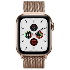 Apple Watch Series 5 GPS + Cellular 40mm Gold Stainless Steel Case with Gold Milanese Loop (MWWV2)