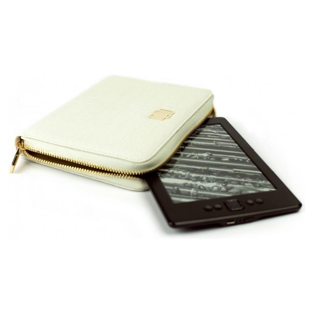 mybook Универсальный кожаный чехол Wallet Style для планшетов/книг Satin White (MB30465) 23212-10