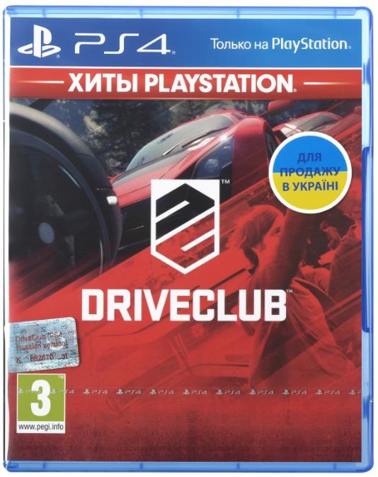 Игра PS4 DriveClub [Blu-Ray диск] 35093-42