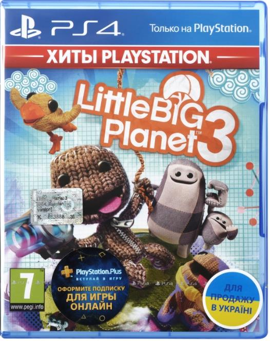 Игра PS4 LittleBigPlanet 3 [Blu-Ray диск] 35108-42