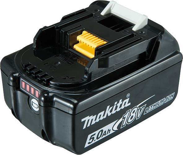 Аккумулятор Makita LXT BL1850B, Li-Ion, 18В, 5Ач, индикация разряда, 0,68кг 34064-42
