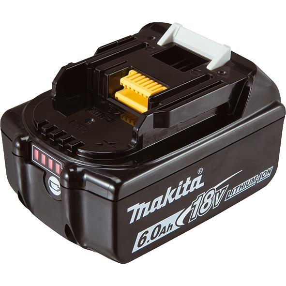 Аккумулятор Makita LXT BL1860B Makita, 18В, 6.0 Ач, индикация разряда (632F69-8) Li-ion, 0,68кг 34065-42